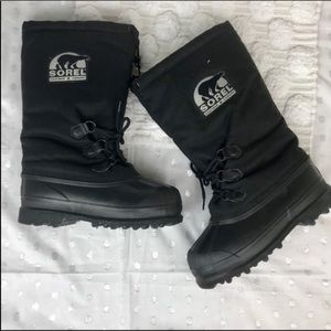 Sorel Black Insulated Snow Boots